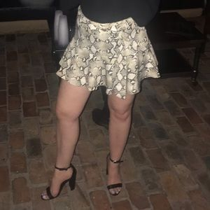 Zara Shorts - Snakeskin Skort with belt